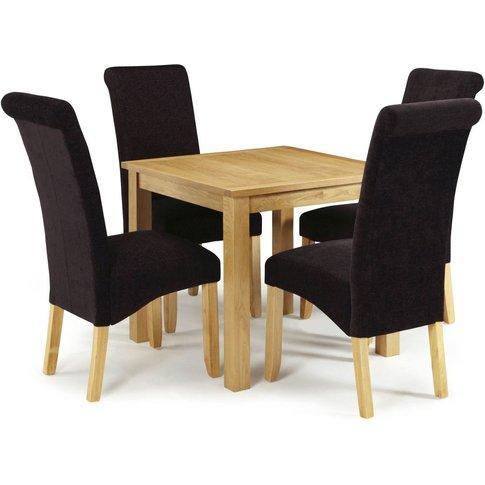 Serene Lambeth Oak Square Flip Top Dining Table And ...