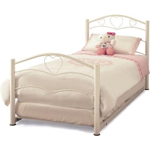 Yasmin White Gloss Metal Guest Bed - Serene Furnishings