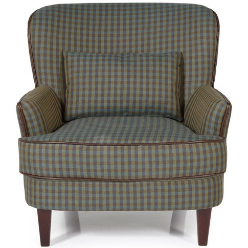 Serene Moffat Green Fabric Armchair