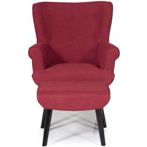 Serene Oban Red Fabric Armchair