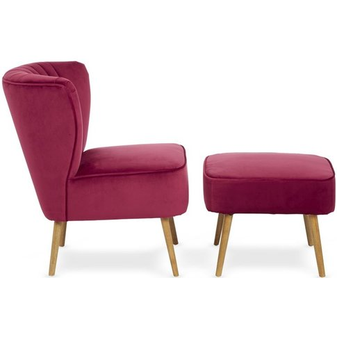 Serene Prestwick Ruby Fabric Armchair