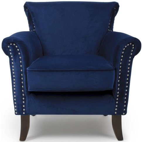 Shankar Malvern Ocean Blue Brushed Velvet Tufted Eng...