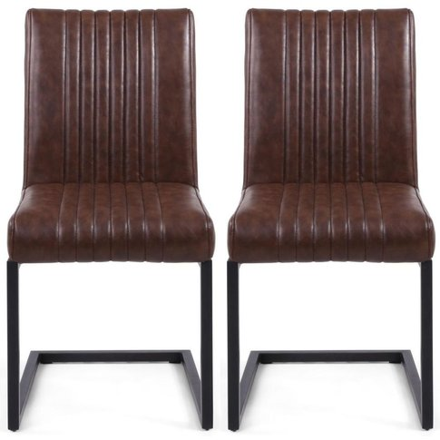 Shankar Archer Brown Leather Match Cantilever Accent...