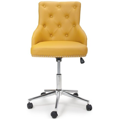 Shankar Rocco Yellow Leather Match Office Chair