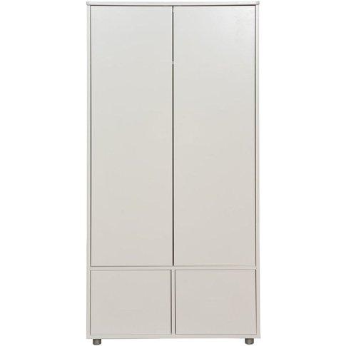 Stompa White Tall Wardrobe With White Doors