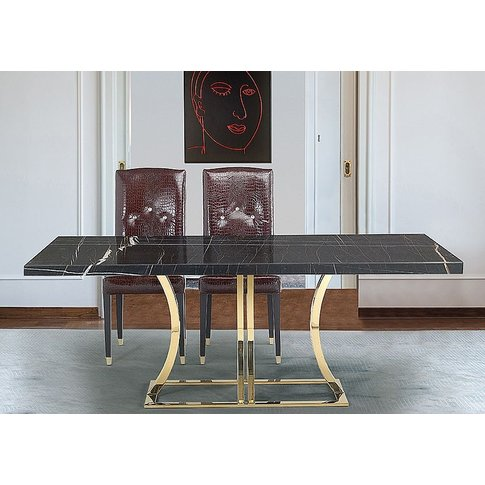 Stone International Aurora Dining Table - Marble And...