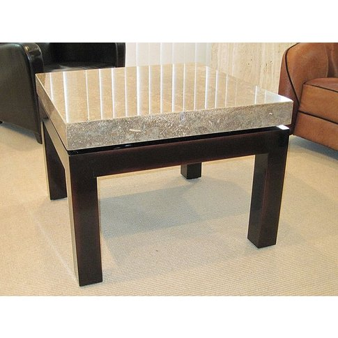 Stone International Cadi Lamp Table - Marble And Lac...