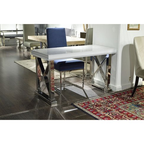 Stone International Impero Desk - Marble And Stainle...
