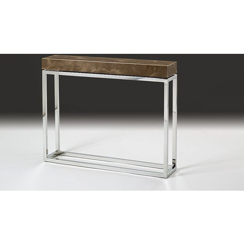 Stone International Kubo Console Table - Marble And ...