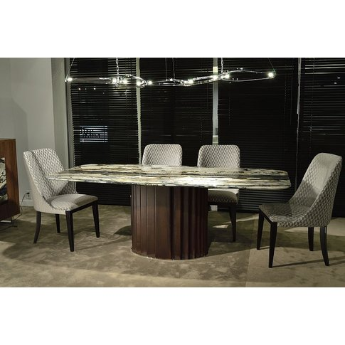 Stone International Mayfair Boat Shaped Top Dining T...