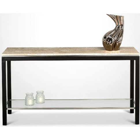 Stone International Stilo Marble And Metal Console T...