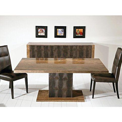 Stone International Venice Marble Square Dining Table