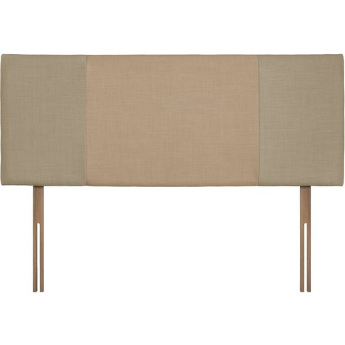 Swanglen Seville Sand And Oatmeal Fabric Headboard