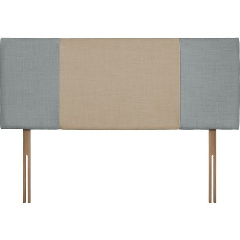 Swanglen Seville Sky And Beige Fabric Headboard