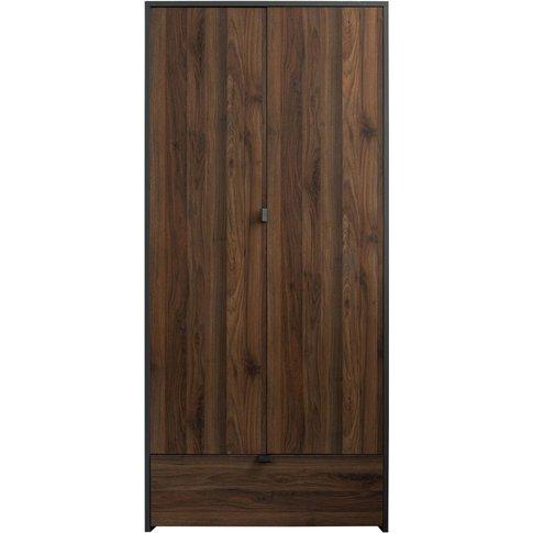 Sweet Dreams Boyd Walnut And Grey 2 Door Wardrobe