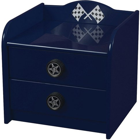 Sweet Dreams Formula Scorching Blue Bedside Cabinet