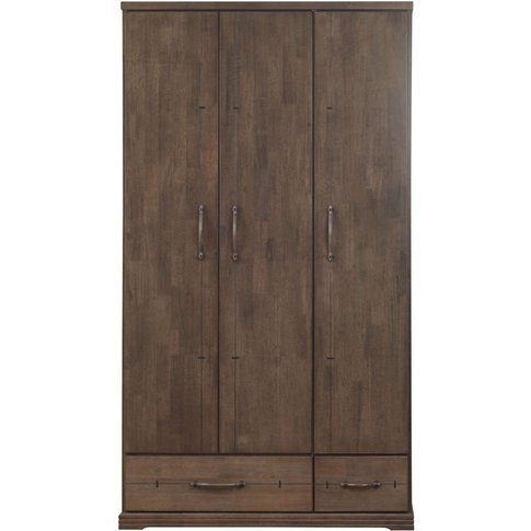 Sweet Dreams Mozart Antique Brown 3 Door Wardrobe