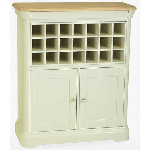 TCH Cromwell Sideboard with Wine Rack - Oak and Painted