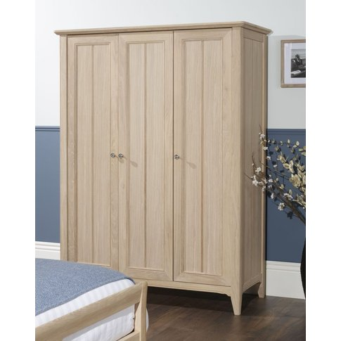 Tch New England Oak 3 Door Wardrobe
