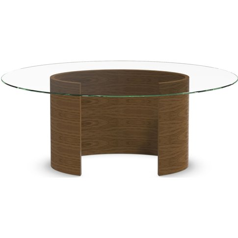 Tom Schneider Ellipse Medium Glass Top Dining Table