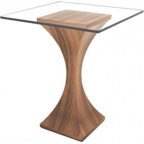 Tom Schneider Estelle Glass Top Lamp Table
