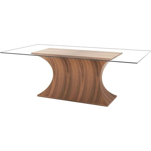 Tom Schneider Estelle Glass Top Dining Table