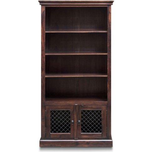 Iron Jali Sheesham Large Bookcase - Urban Deco