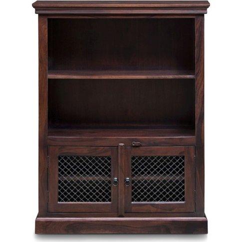 Iron Jali Sheesham Medium Bookcase - Urban Deco
