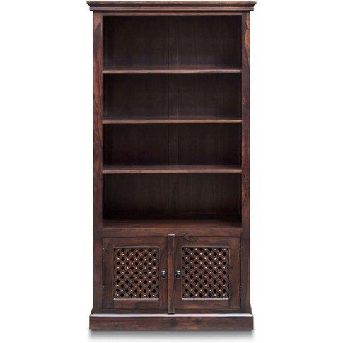 Wood Jali Sheesham Large Bookcase - Urban Deco