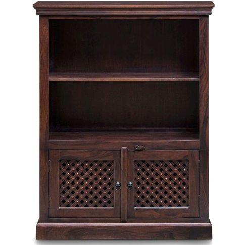 Wood Jali Sheesham Medium Bookcase - Urban Deco