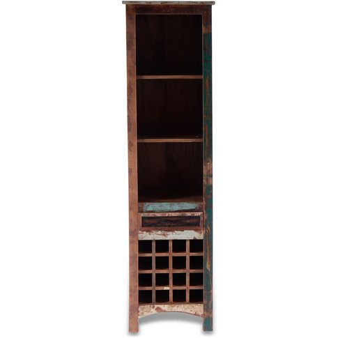 UNIQUE Reclaimed Mango Wood 1 Drawer Wine Rack