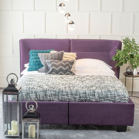 Urban Deco Simba Purple Velvet 5ft King Size Bed
