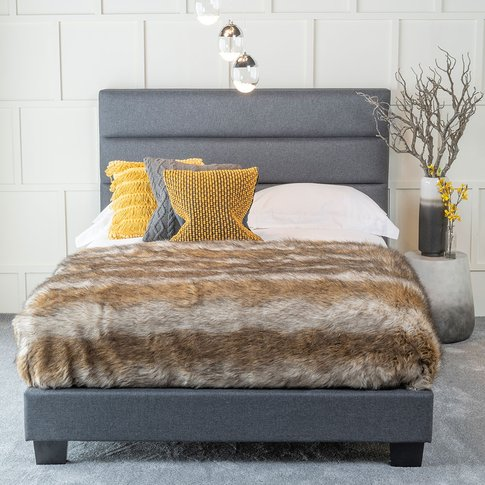 Urban Deco Rio Charcoal Grey Fabric 3ft Bed