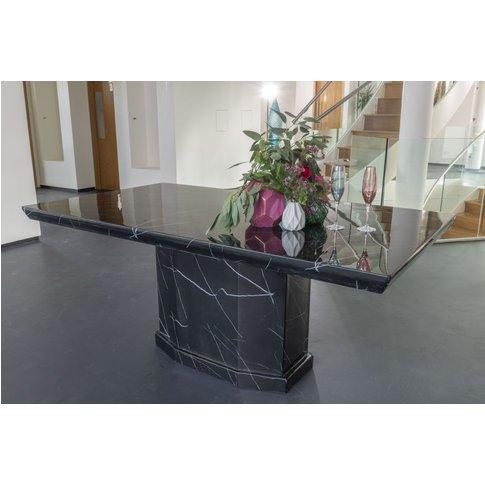 Naples Black Marble Dining Table - Rectangular 180cm...