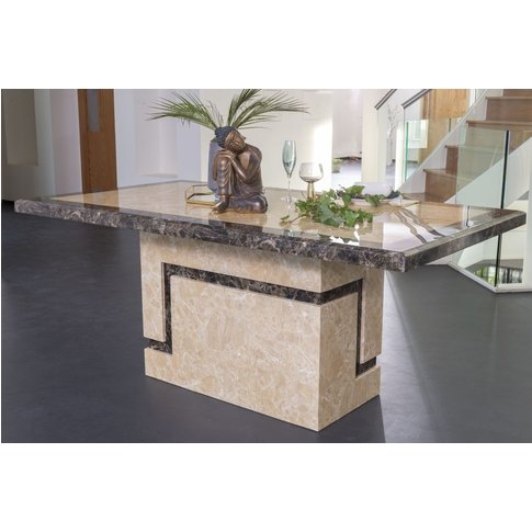 Venice Cream Marble Dining Table - Rectangular 200cm...