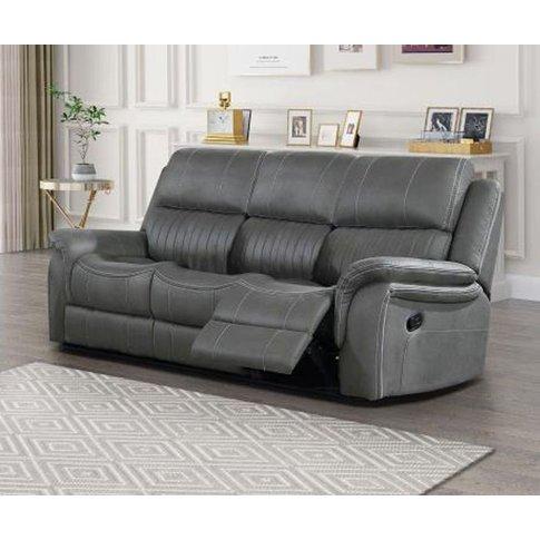 Vida Living Amos Fabric 3 Seater Recliner Sofa