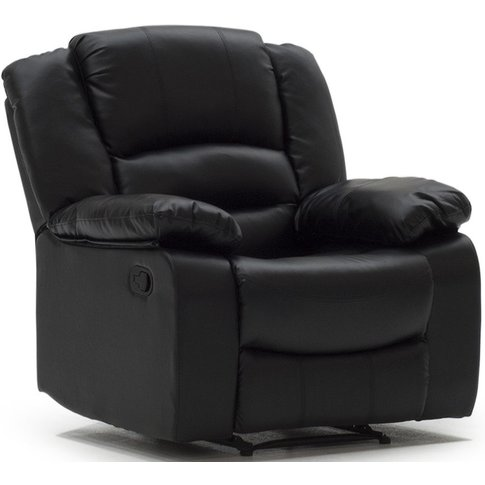 Vida Living Barletto Black Leather Recliner Armchair
