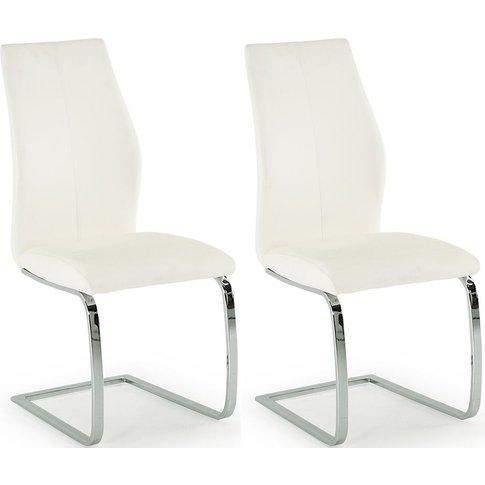 Vida Living Elis White Faux Leather Dining Chair (Pair)
