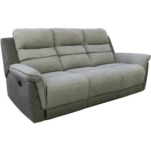 Vida Living Dawson Grey 3 Seater Recliner Sofa