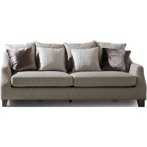 Vida Living Imogen Grey Fabric 3 Seater Sofa