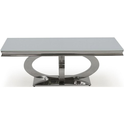 Vida Living Orion White Glass Top Coffee Table - 130cm