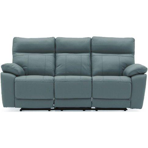 Vida Living Positano Blue 3 Seater Recliner Sofa
