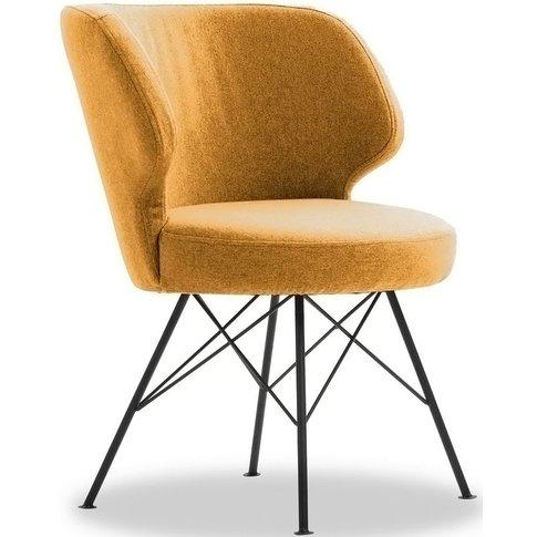 Vida Living Erwan Mustard Fabric Accent Chair
