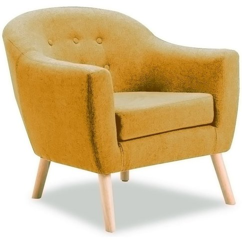 Vida Living Perig Mustard Fabric Accent Chair