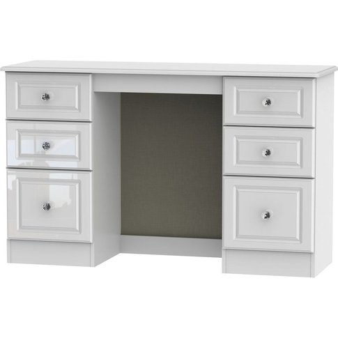Balmoral White High Gloss Dressing Table - Knee Hole...
