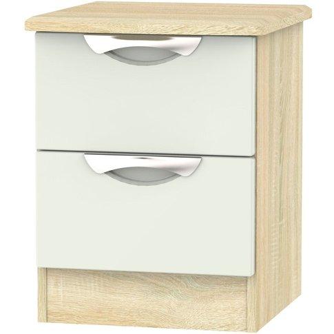 Camden 2 Drawer Bedside Cabinet - High Gloss Kaschmi...