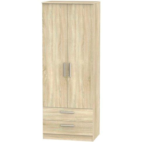 Contrast Bardolino 2 Door Double Wardrobe - Tall 2ft...