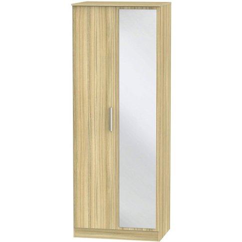 Contrast Cocobolo 2 Door Double Wardrobe - Tall 2ft ...