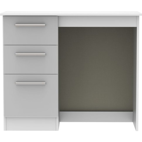 Contrast High Gloss Grey And White Vanity Dressing Table