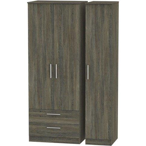 Contrast Panga 3 Door Triple Wardrobe - Tall With 2 ...